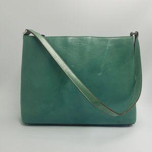 Kate Spade Green Leather Zipper Shoulder Satchel